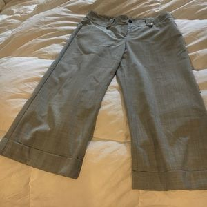 Gray dress Capri pants
